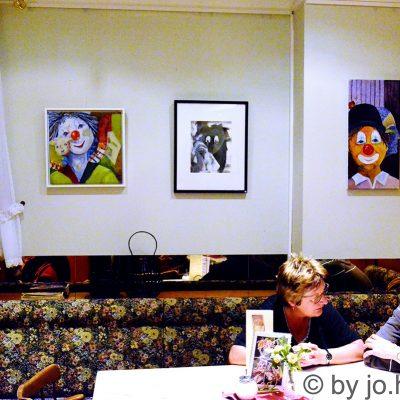 Clown-Portraits von Gudrun Habenicht